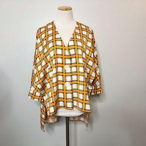 Zara Oversized Plaid Tunic Medium